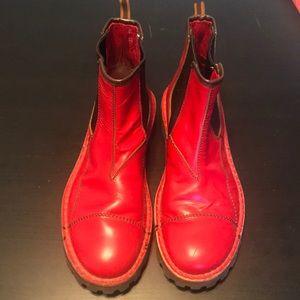 Miu Miu red men's boots